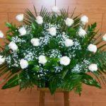 Centro rosas blancas